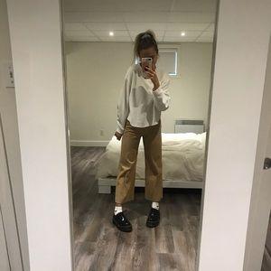 Zara corduroy beige pants